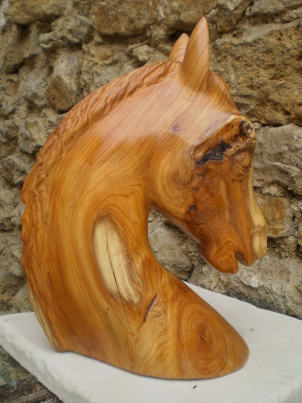 t te de cheval george francis sculpture sur bois amateur d 39 art. Black Bedroom Furniture Sets. Home Design Ideas